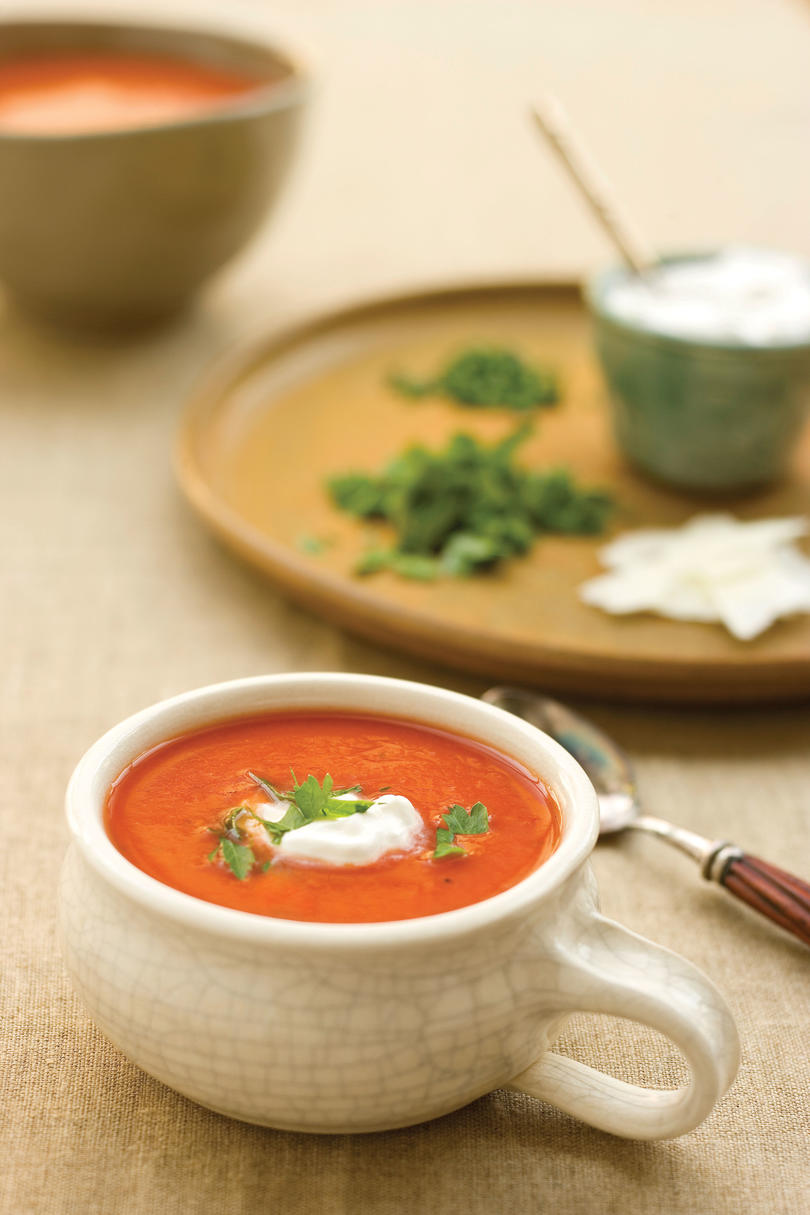 Dressed-up Tomato Soup
