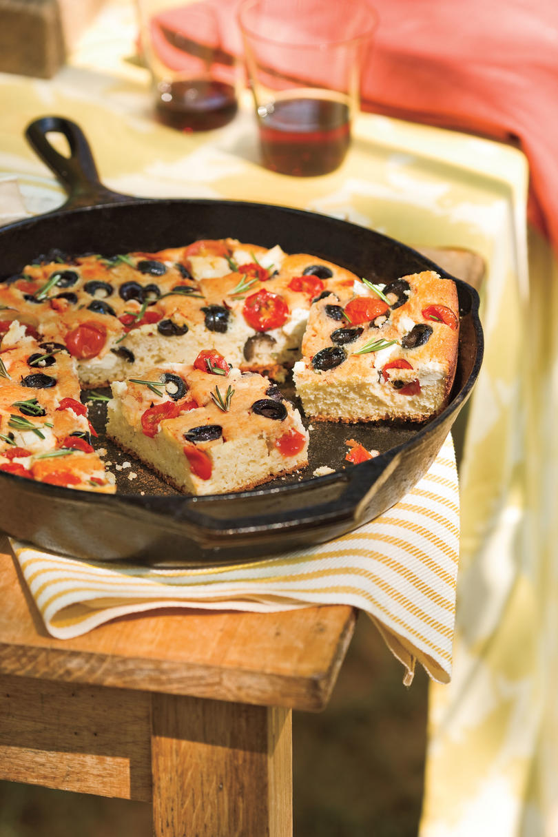 The inspiration for Cornbread Focaccia is Italian, but the taste is pure Southern comfort.