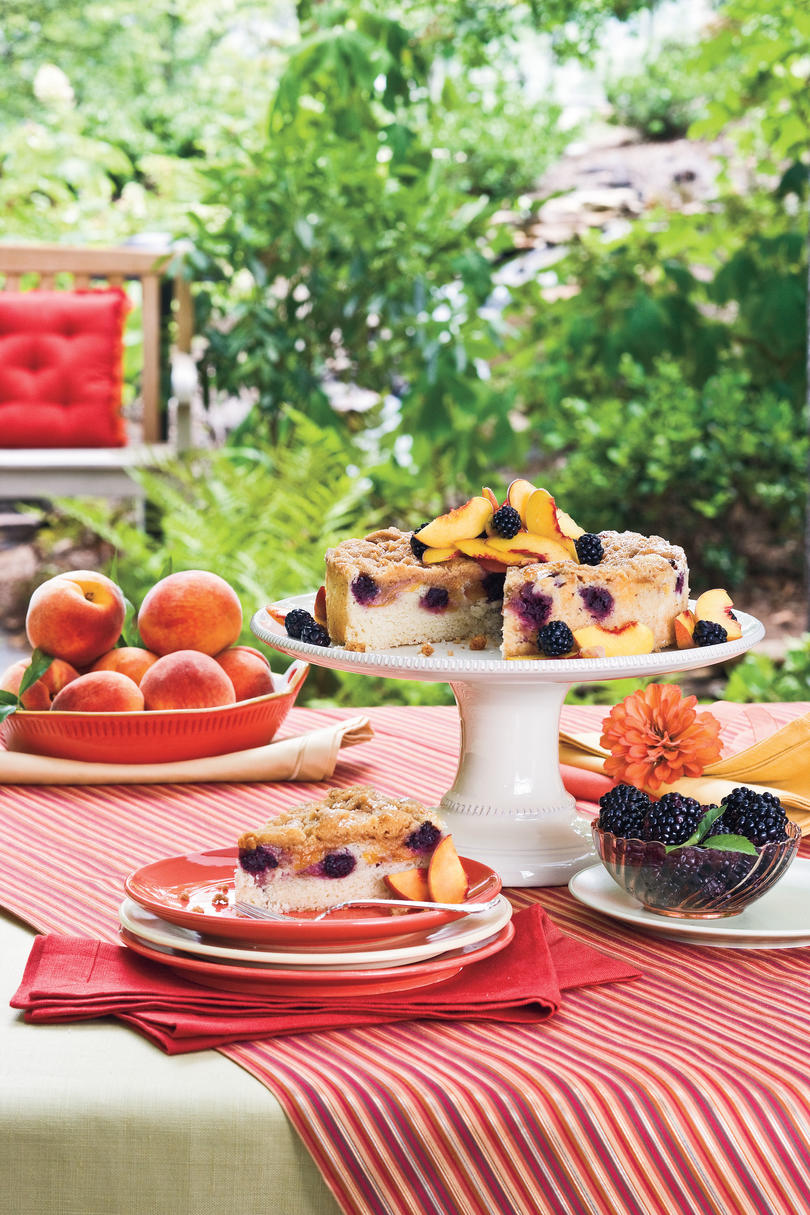 Summer Peach Recipes: Blackberry-Peach Coffee Cake