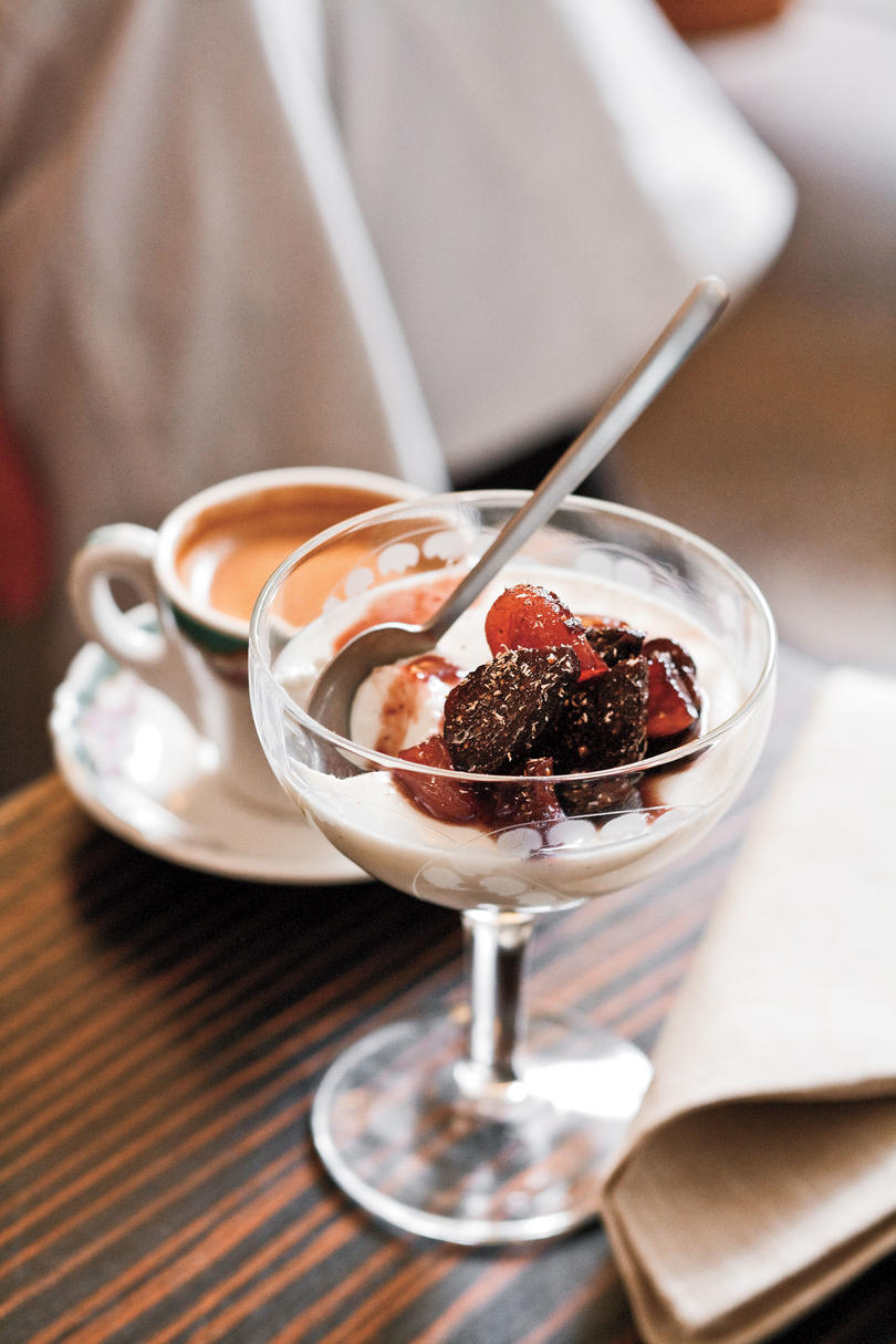 December: Buttermilk Panna Cotta With Zinfandel-Poached Figs