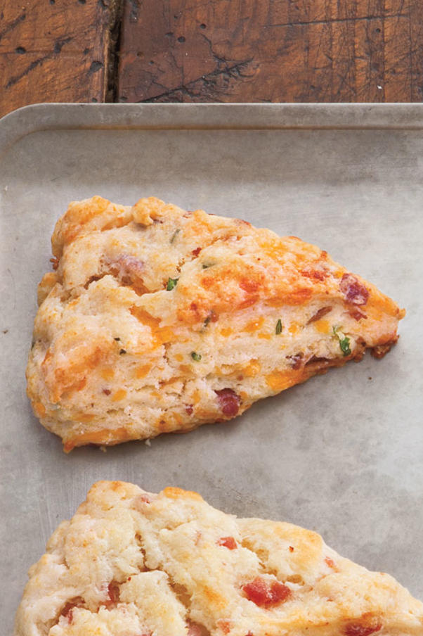 Bacon, Cheddar, and Chive Scones