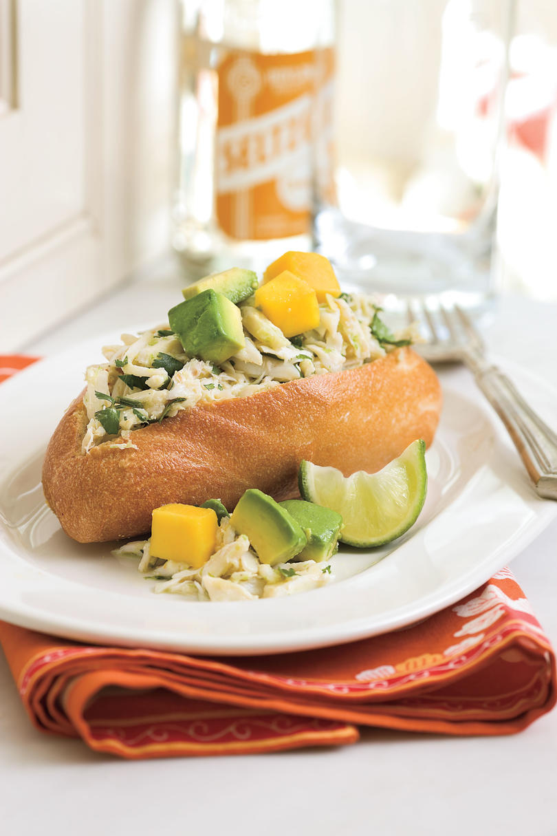 Easy, Healthy Seafood Recipes: Caribbean Crab Sandwich