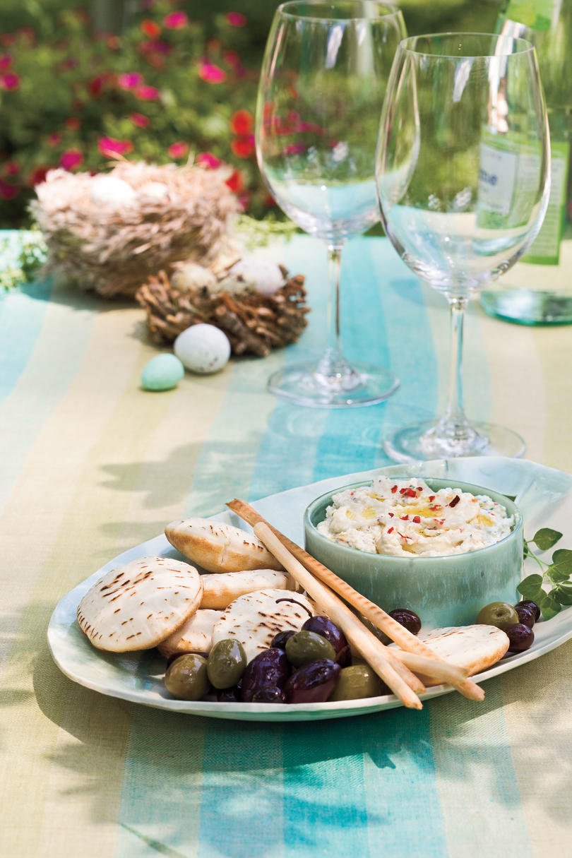 Cat Cora's Greek Easter Recipe Ideas: Feta Spread (Htipiti)