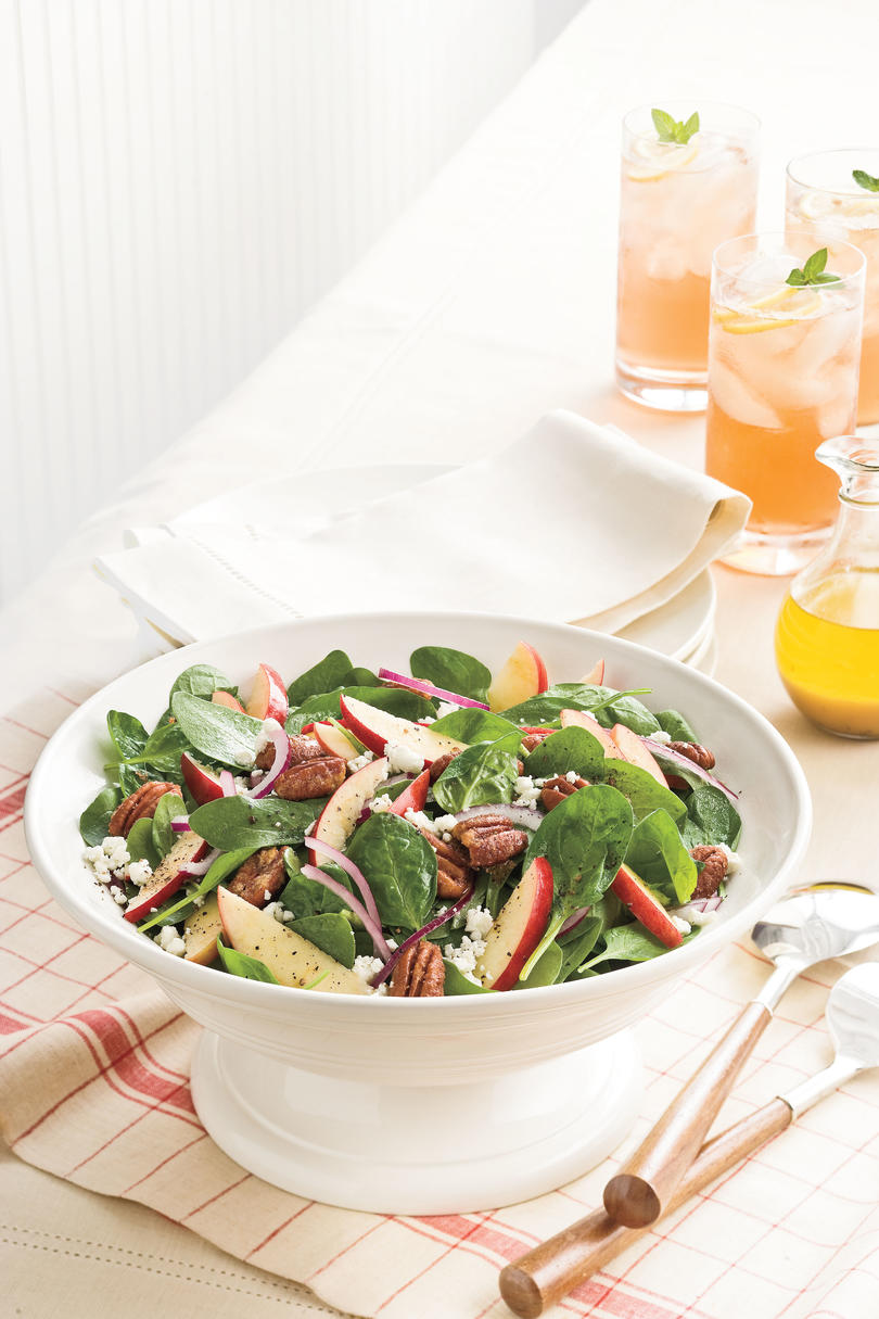 Spinach-Apple Salad With Maple-Cider Vinaigrette