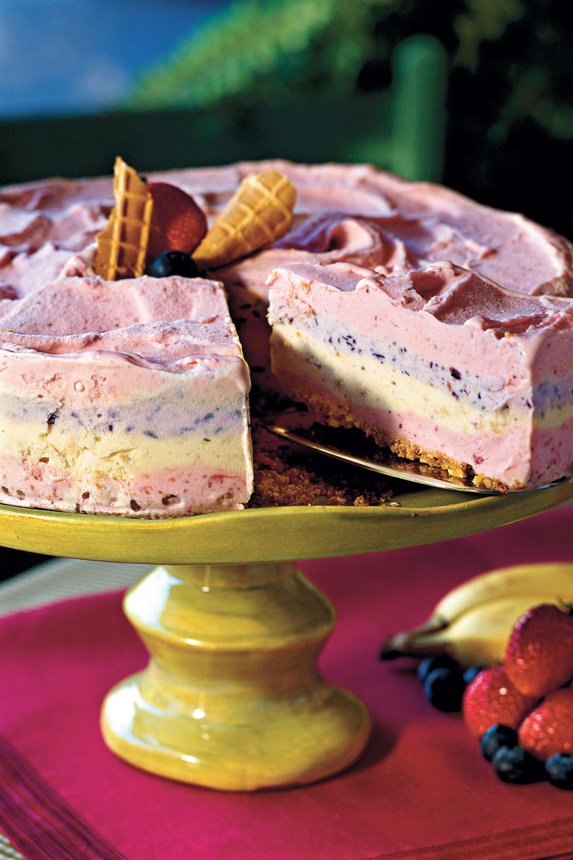 Strawberry Smoothie Ice-Cream Pie