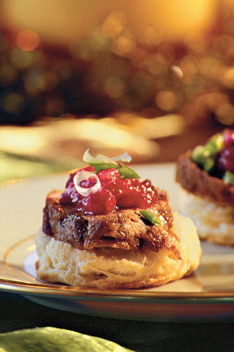 Brunch Recipes: Pork Tenderloin on Cornmeal Biscuits Recipes