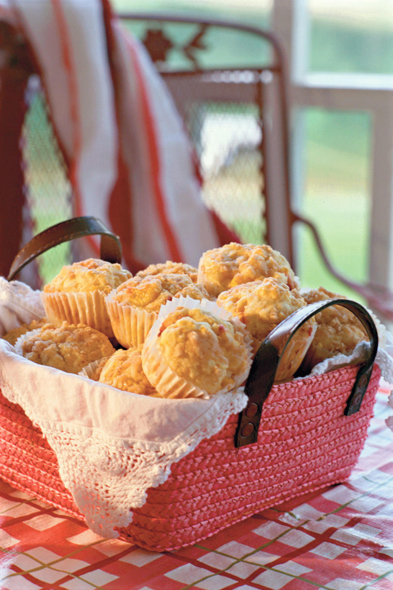 Summer Peach Recipes: Peach Streusel Muffins