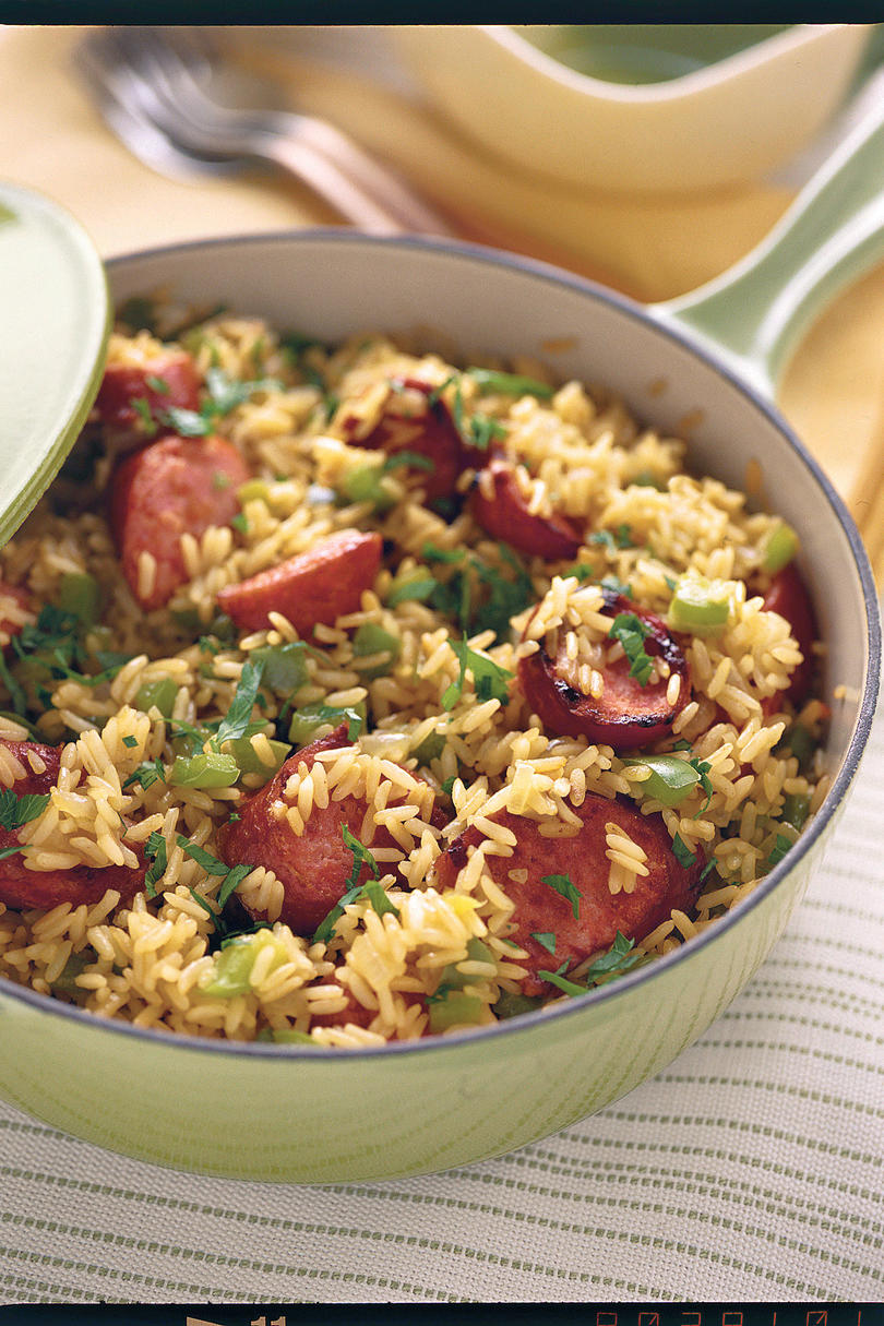 Easy sausage and rice recipes for dinner