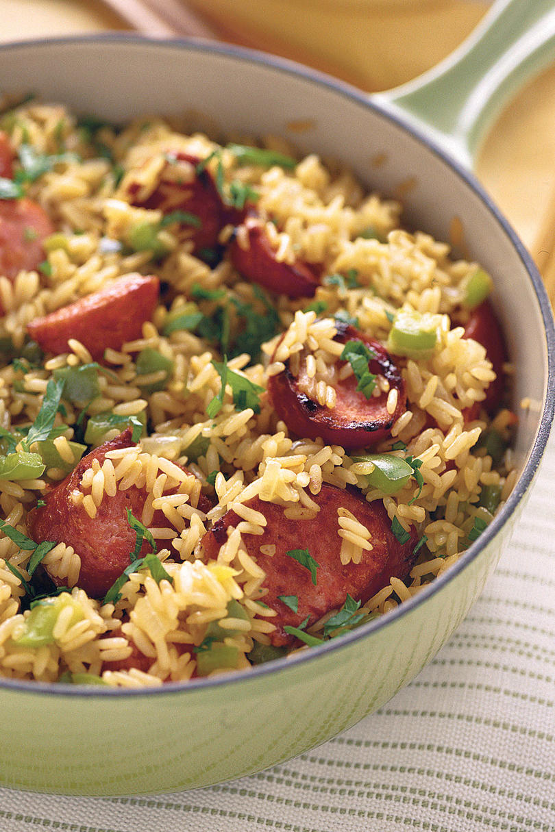 Quick and Easy Dinner Recipes: Sausage Skillet 'n' Rice