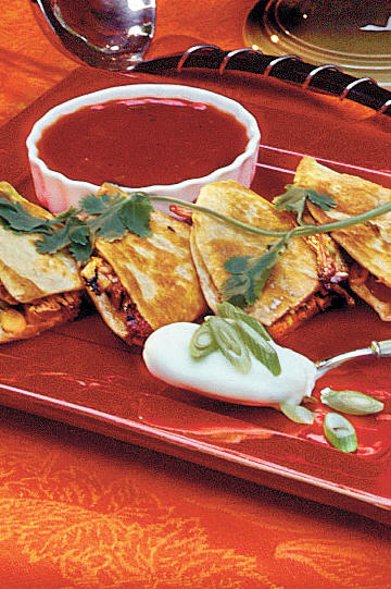 Cast Iron Skillet Recipes: Barbecued Pork Quesadillas