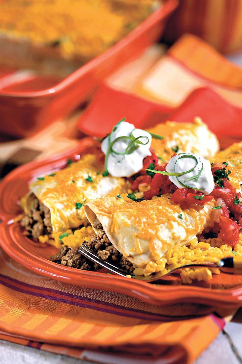 Ground Beef Recipes Smothered Enchiladas