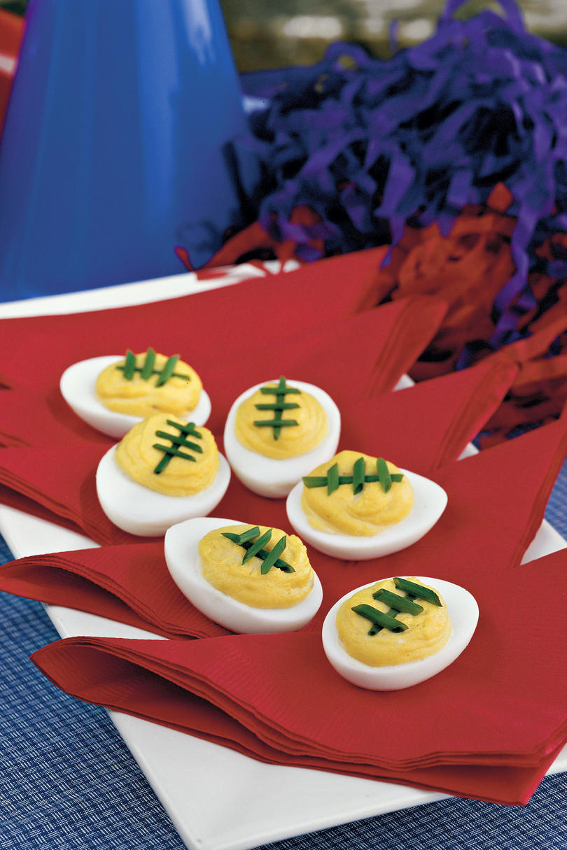 Dixie's Football Pride Spicy-Sweet Deviled Eggs