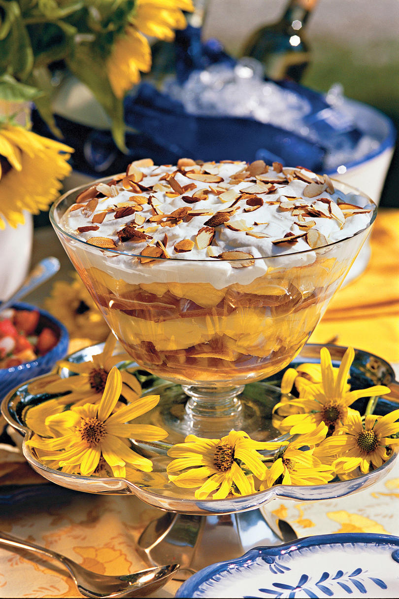 Summer Peach Recipes: Georgia Peach Trifle