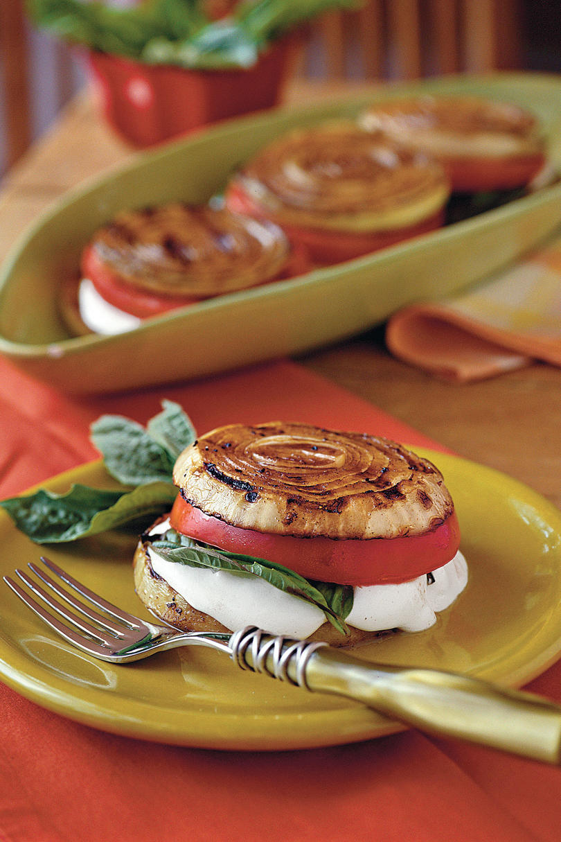 Vegetarian Grilling Recipes: Balsamic Onion Stacks