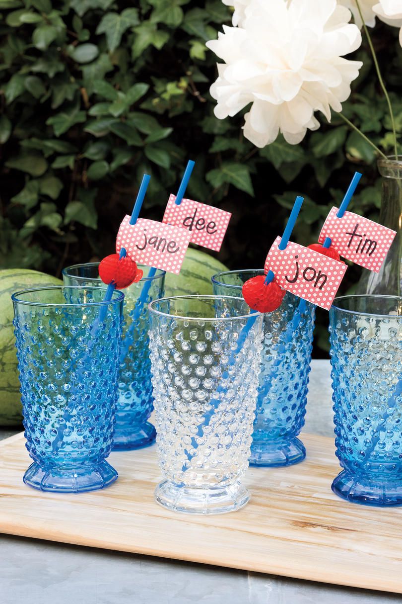 An All-American Party: Design Handmade Name Cards
