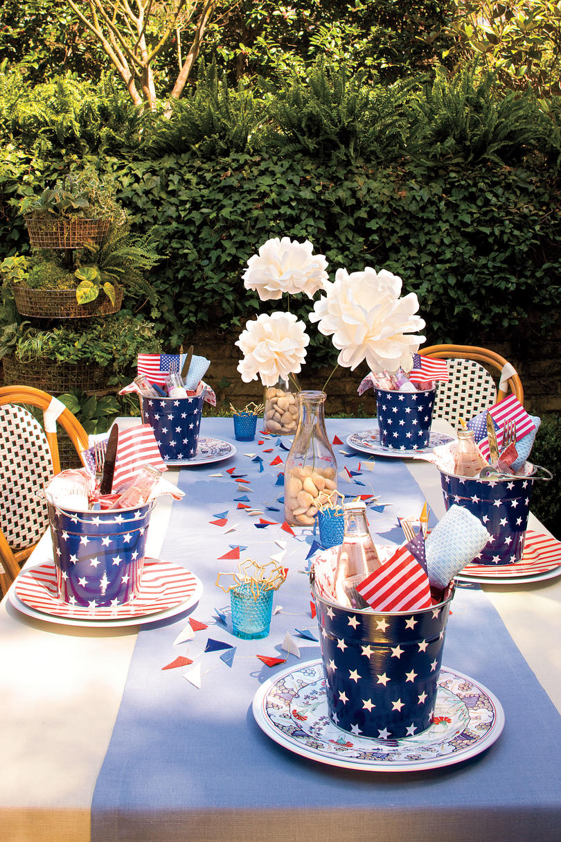 American table setting - An All American Party Table Setting