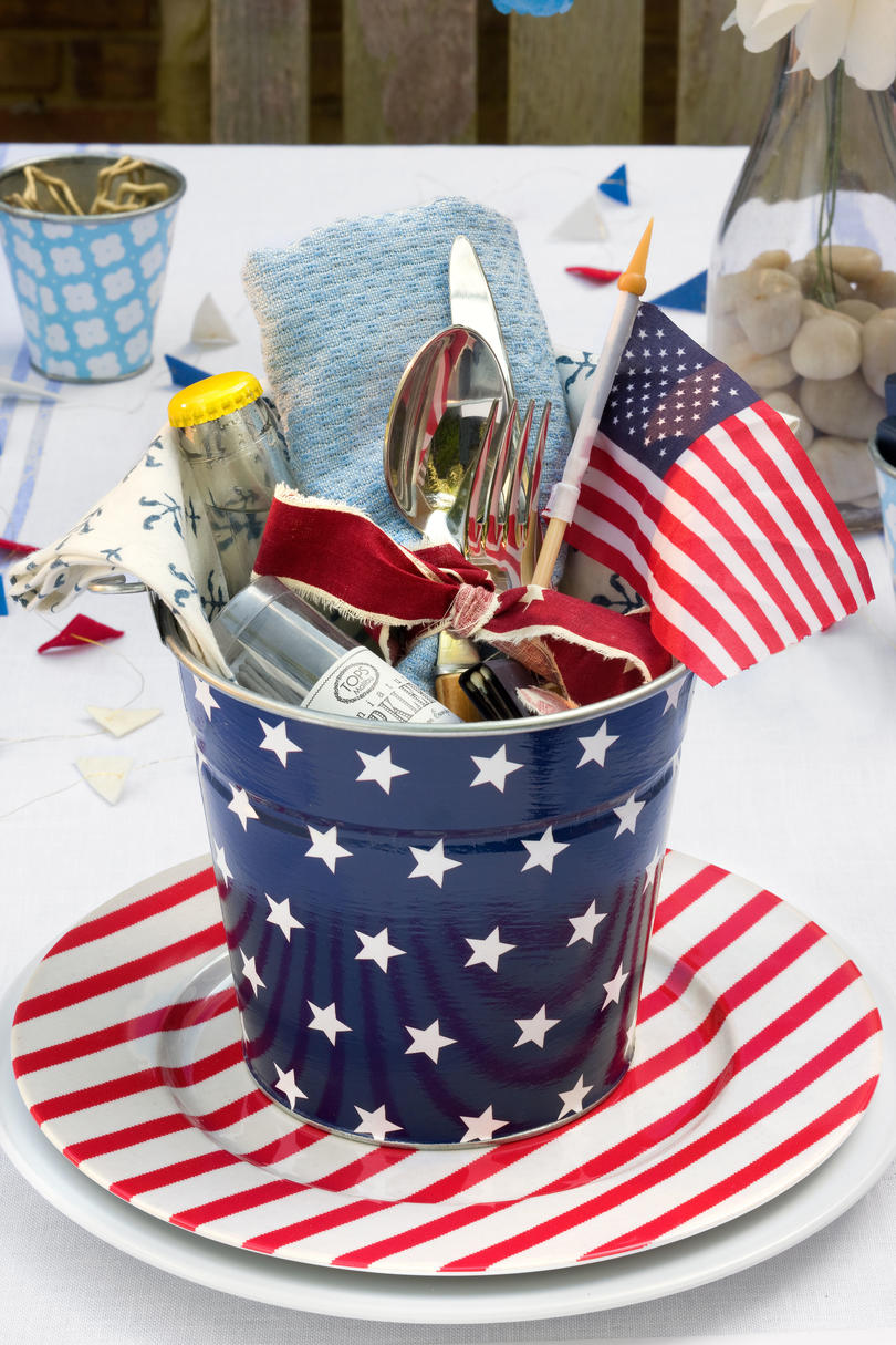 American table setting - An All American Party Create A Party Pail
