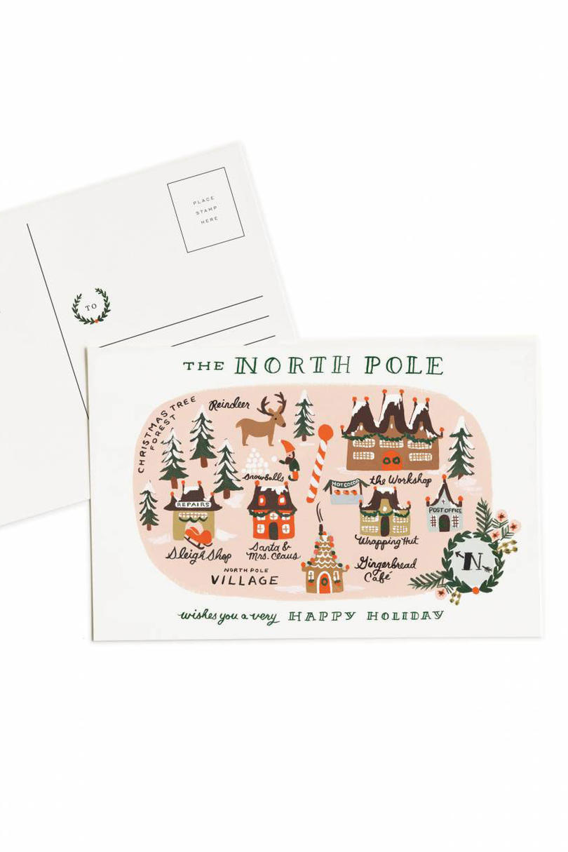 Rifle Paper Co. North Pole Map Post Card