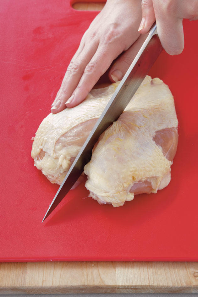 Step 6: Remove and Cut Breast
