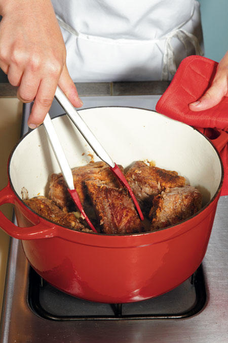 Step 2: Brown Ribs in Dutch Oven
