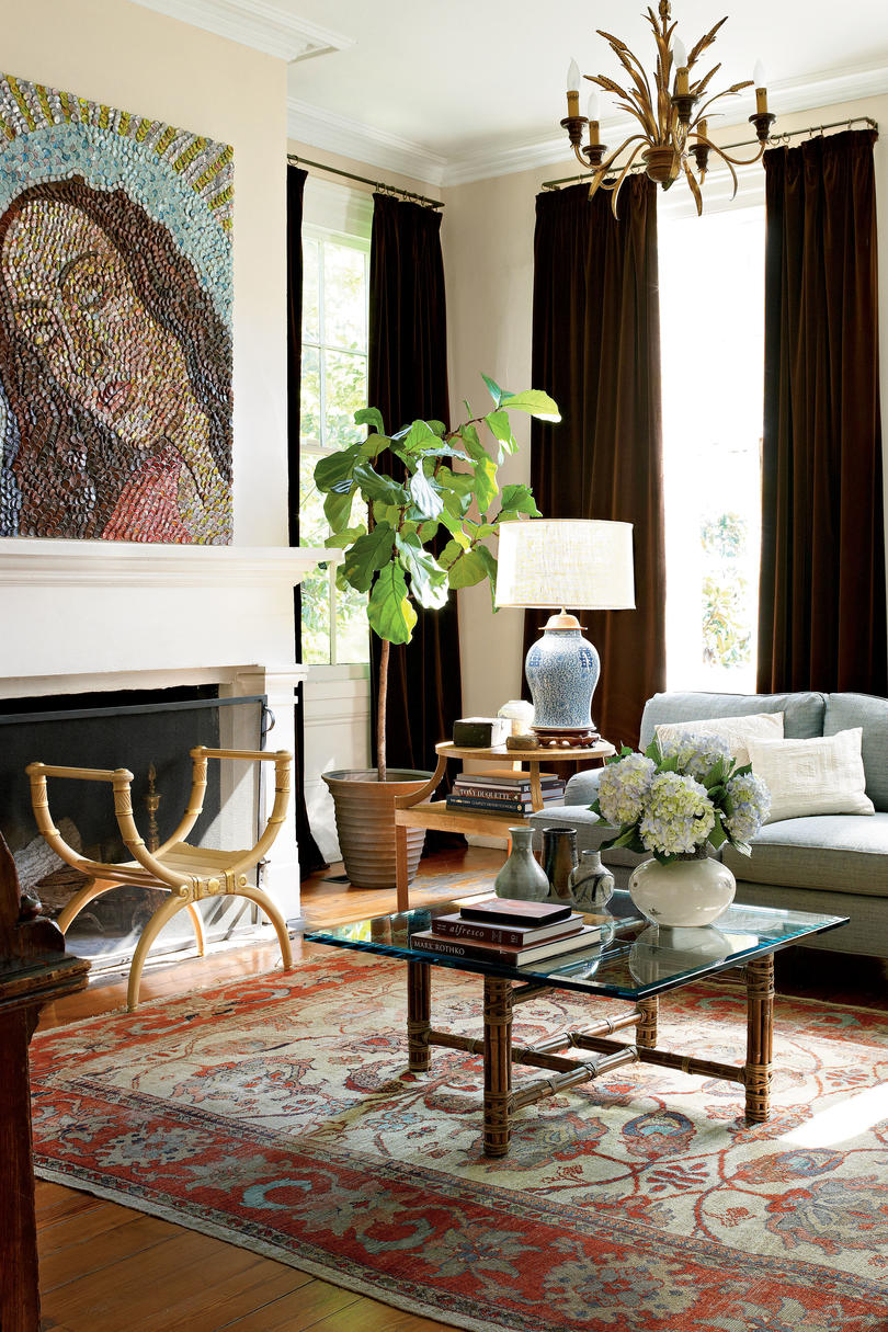 106 living room decorating ideas southern living for Traditional and modern houses