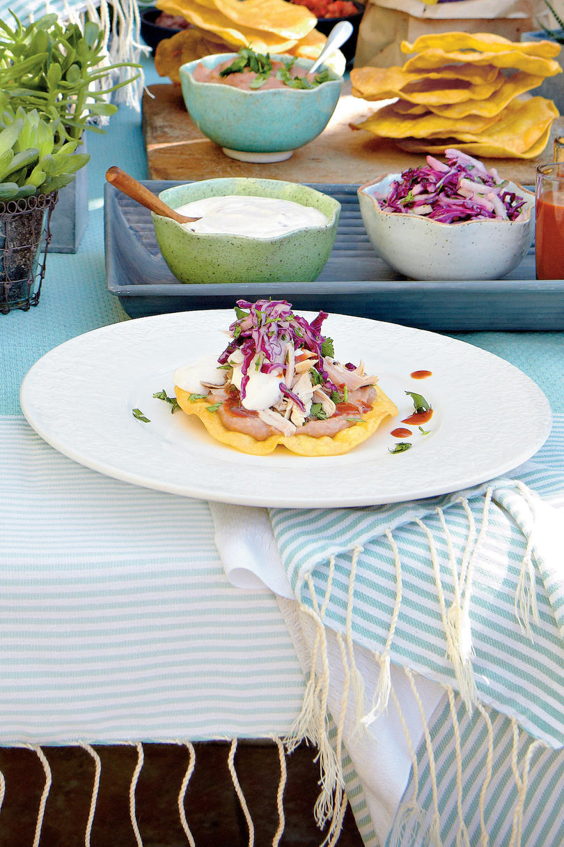 Easy Barbecue Tostadas