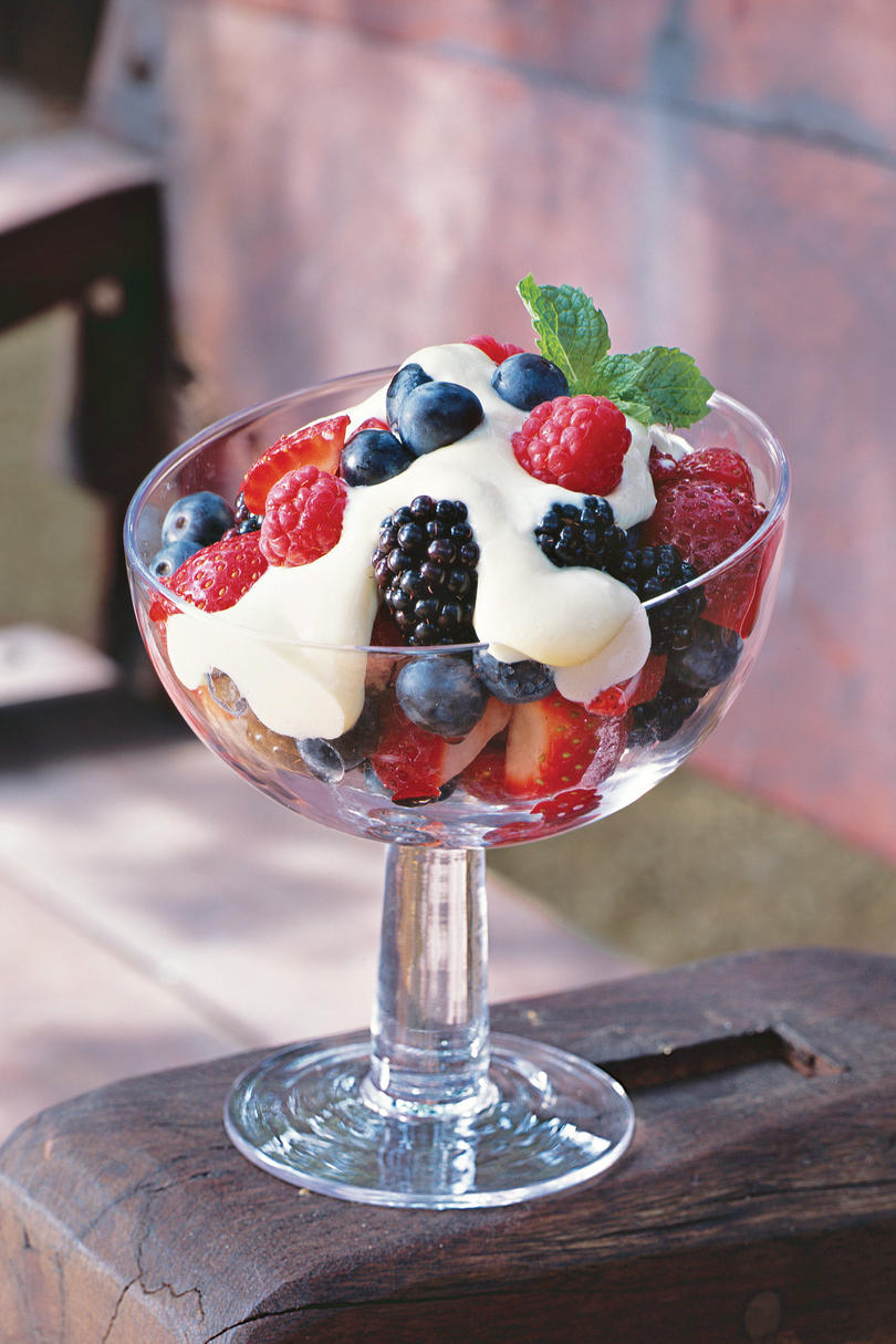 Berries with Tequila Cream