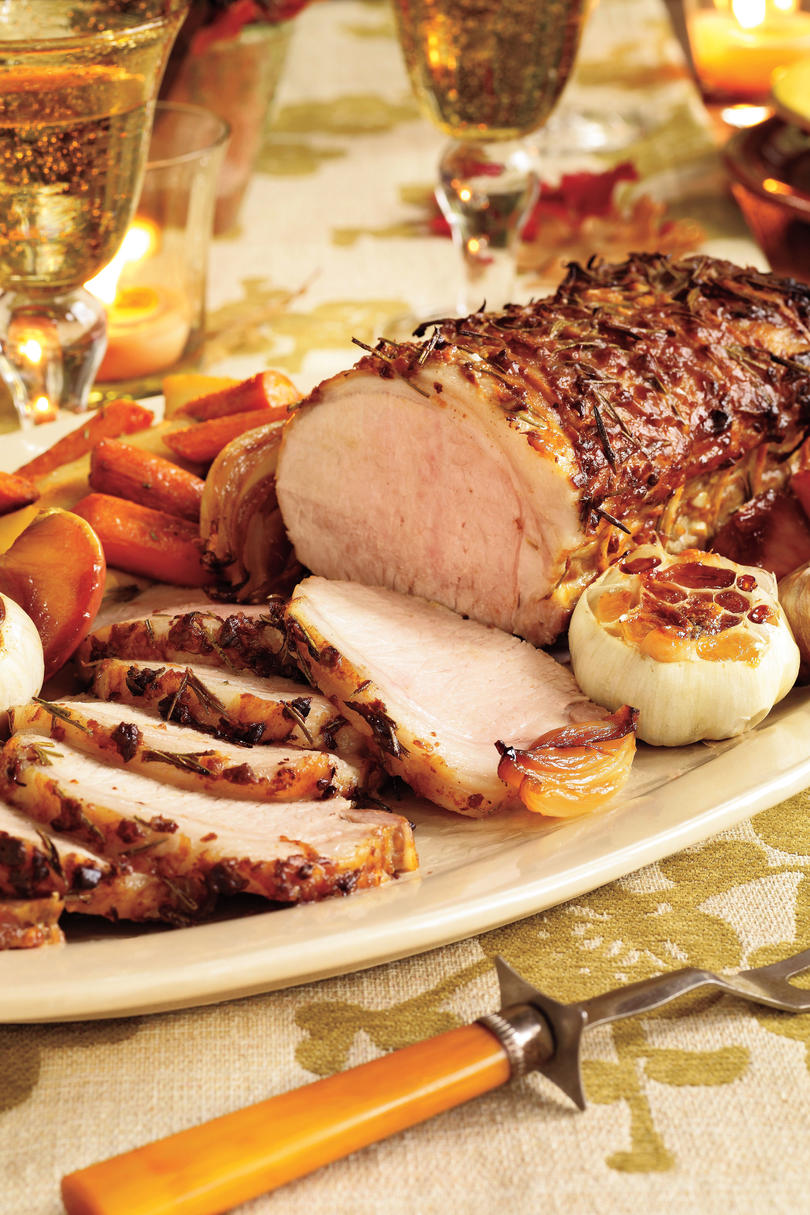 Fall Recipes: Rosemary-Garlic Pork With Roasted Vegetables & Caramelized Apples