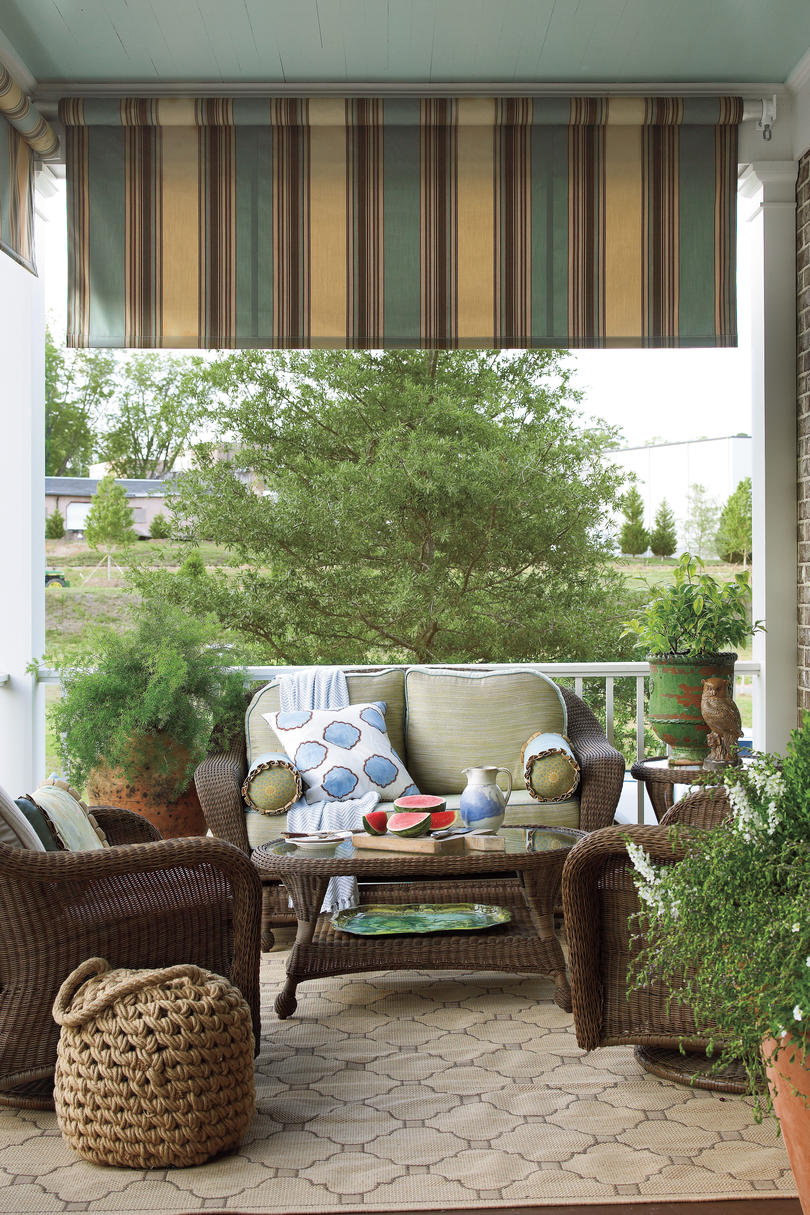 Porch and patio design inspiration southern living for Cost of outdoor living space