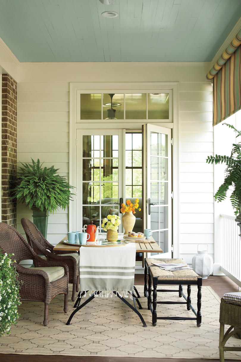Bright Outdoor Dining Ideas - Southern Living on Southern Outdoor Living id=22809