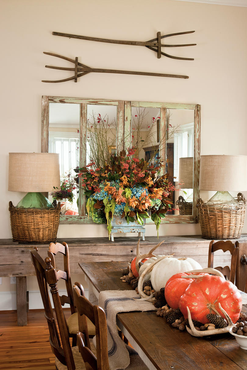 Make an ImpressionFall Decorating Ideas  Southern Living. Fall Living Room Decor. Home Design Ideas