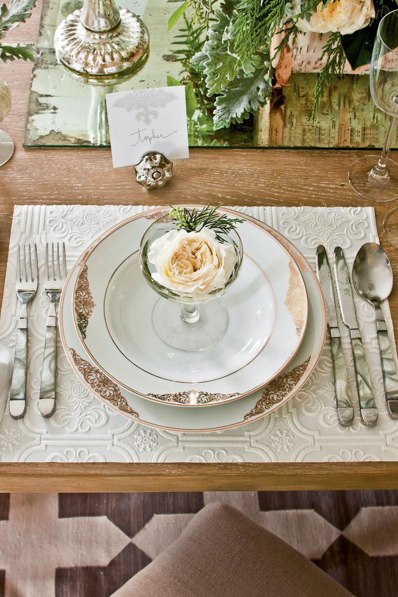 Elegant Table Settings christmas party ideas: elegant dinner party - southern living