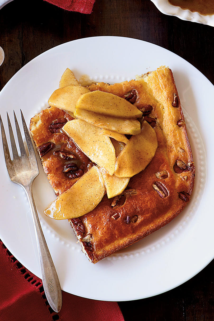 Pecan Pancake with Caramel-Apple Topping