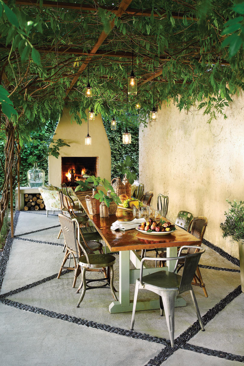 Cool and shady pergola ideas southern living - Garden patio ideas pictures ...