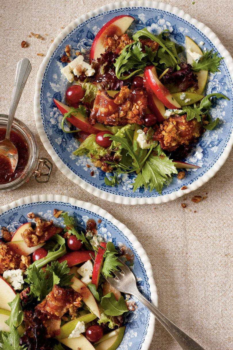 Apple-Pear Salad with Maple-Pecan Bacon