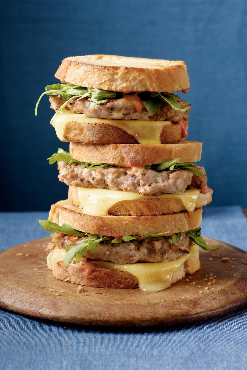 Turkey Burger Patty Melts