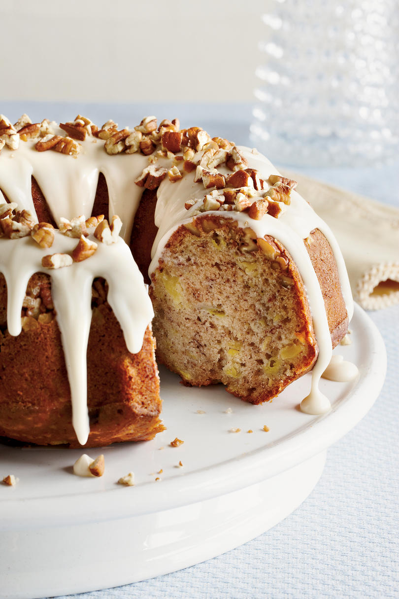 Pumpkin Spice Bundt With Brown Sugar Icing And Candied