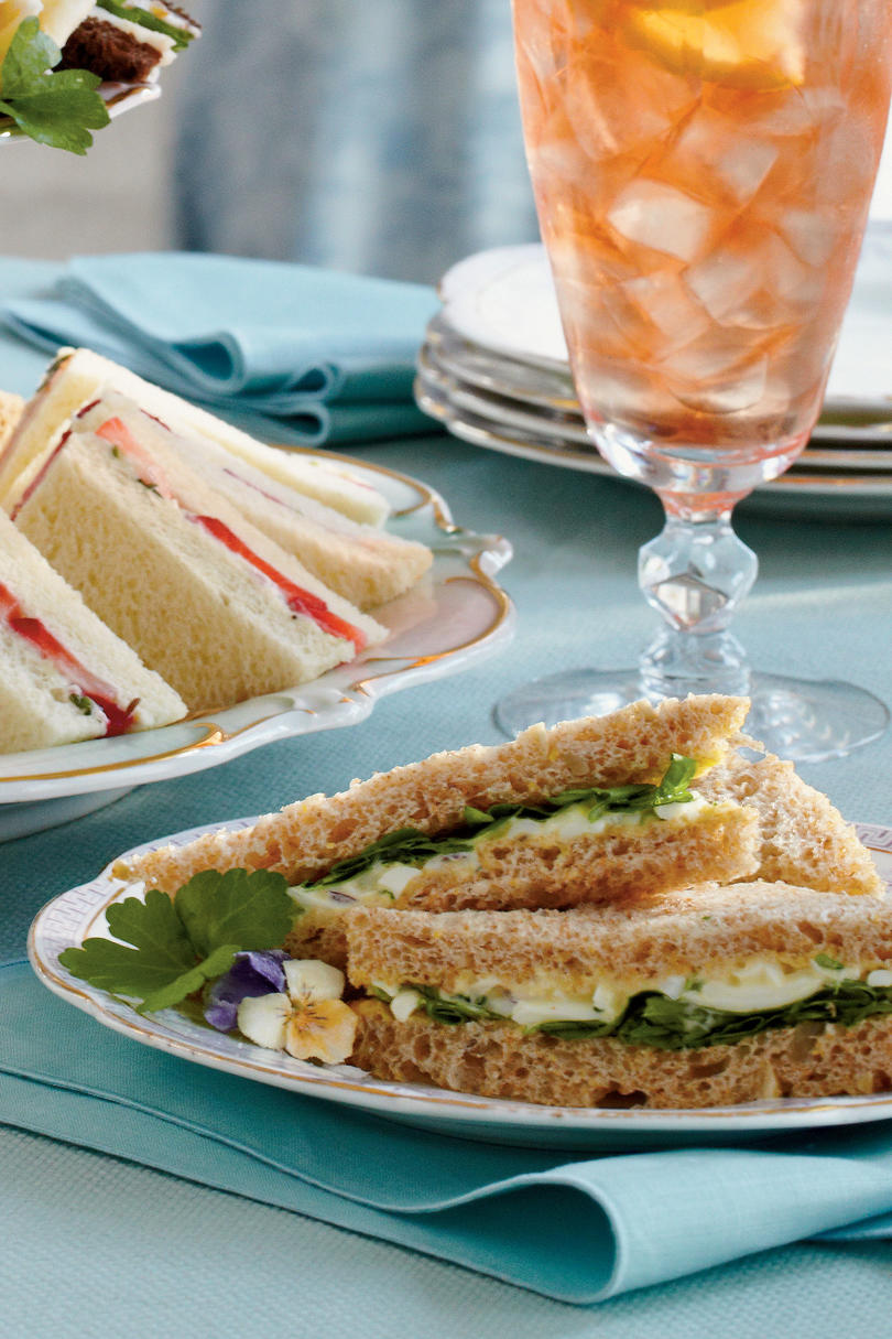 Easy elegant tea sandwiches southern living egg salad tea sandwiches forumfinder Gallery