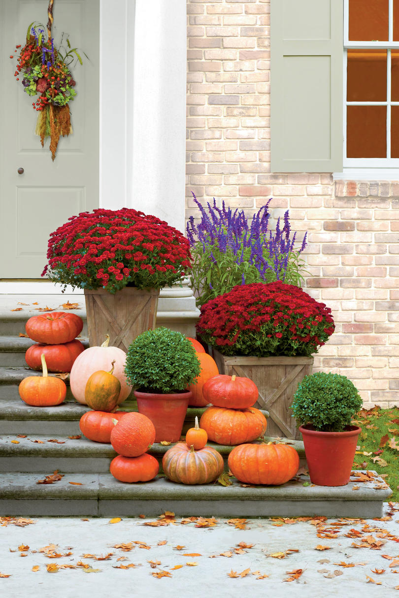 Pumpkin Ideas For Your Front Door Southern Living - 6 diy halloween pumpkin stands for your porch