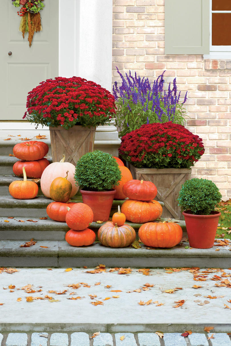Line Your Steps Fall Decorating Ideas Southern