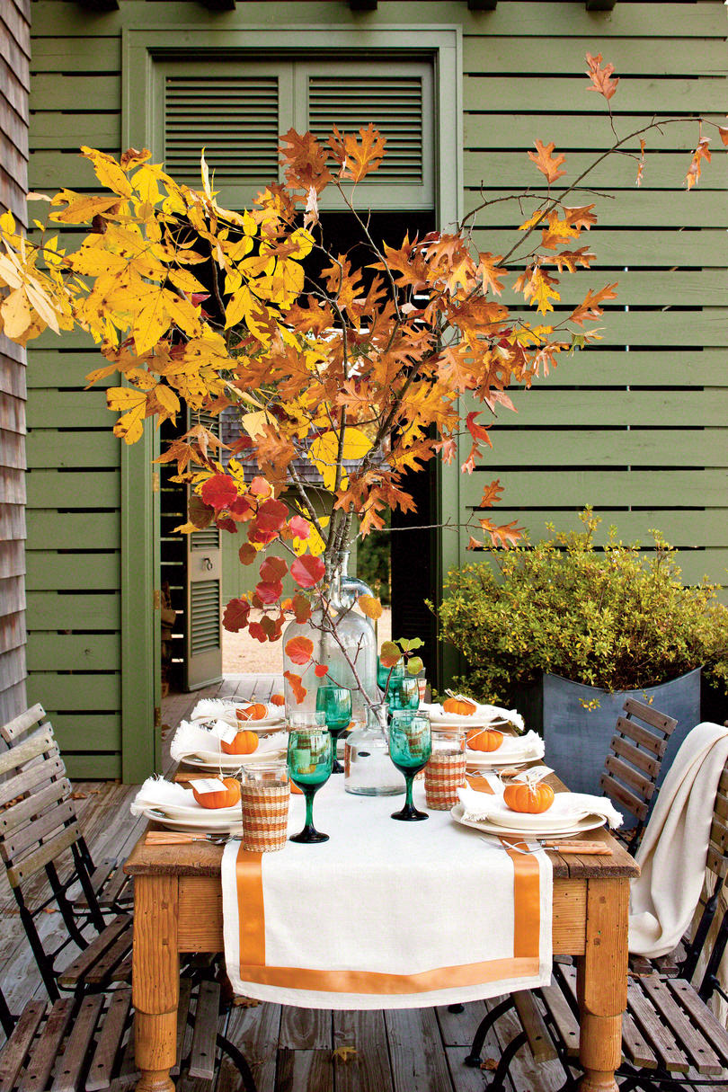 Fall Table Settings fall decorating ideas -southern living