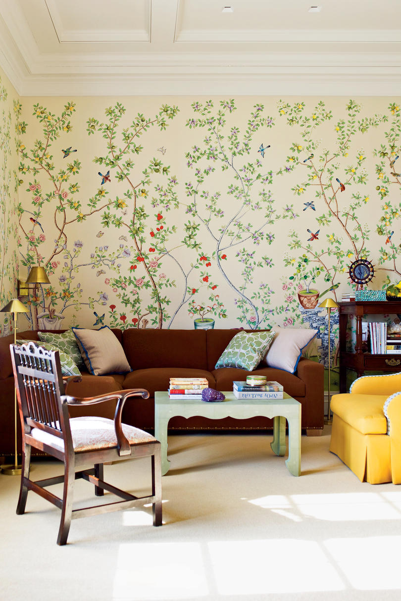 Beautiful Wallpaper Ideas Southern Living - Living room wallpaper 2015
