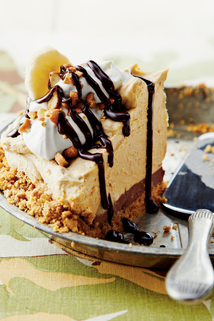 Peanut Butter-Banana Icebox Pie