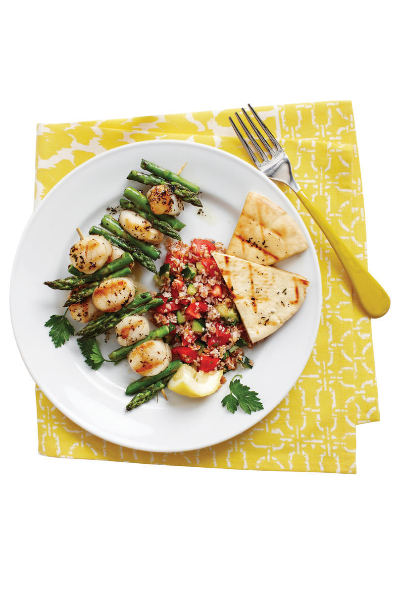 5 Quick Recipes for Kabobs: Grilled Scallop Kabobs