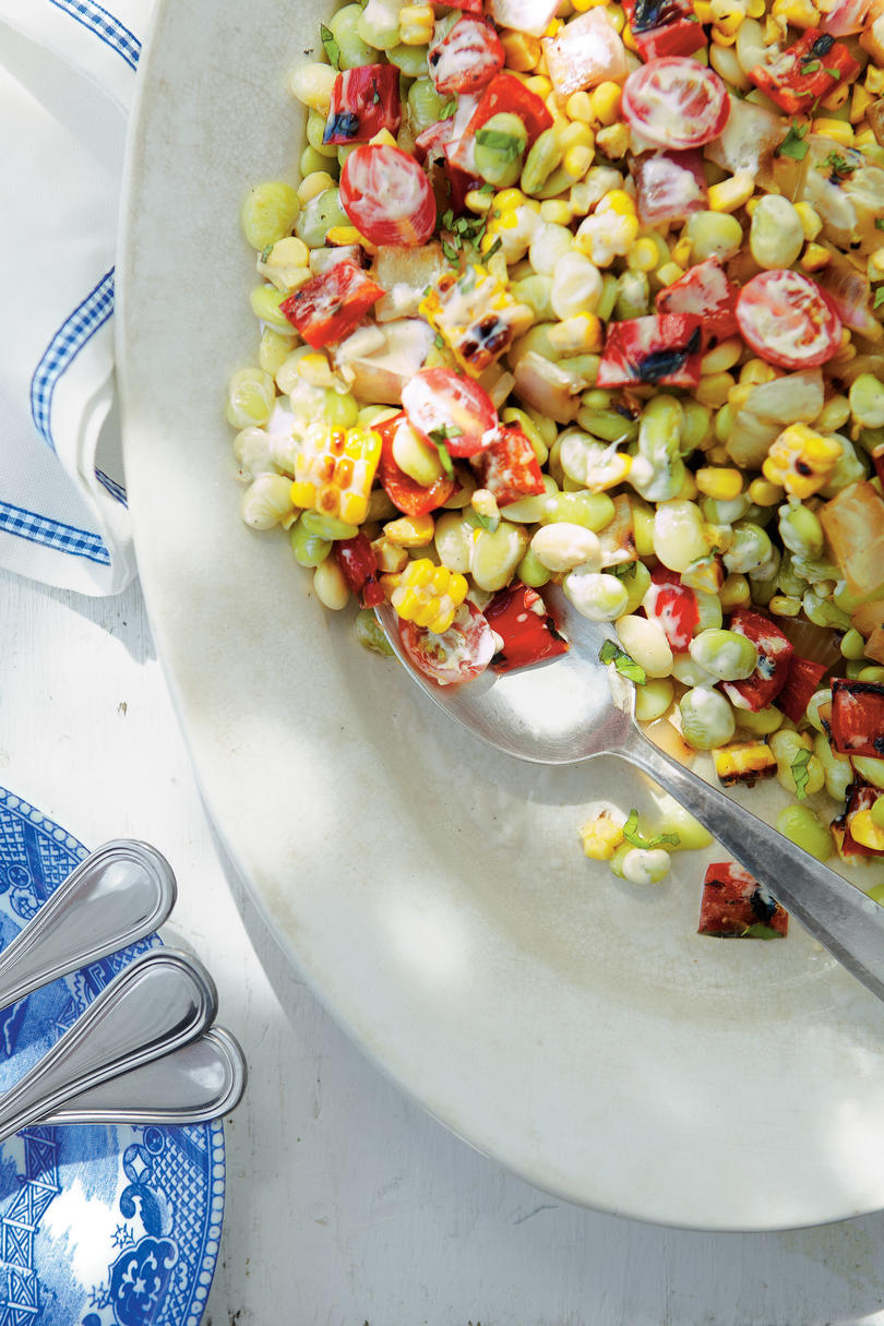 Grilled Corn-and-Butter Bean Salad