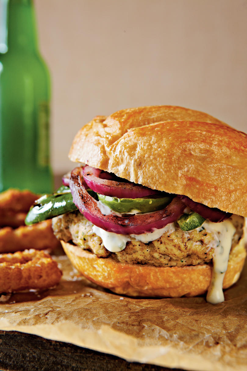 Grilled Chicken Tequila Burgers