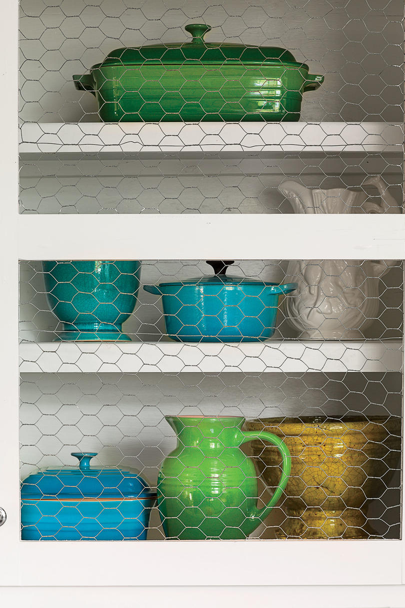 Budget-Savvy Solution: Chicken Wire Cabinets