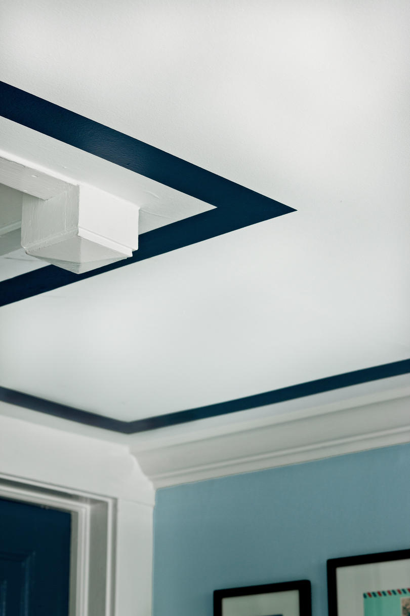 Custom Painted Ceiling Border
