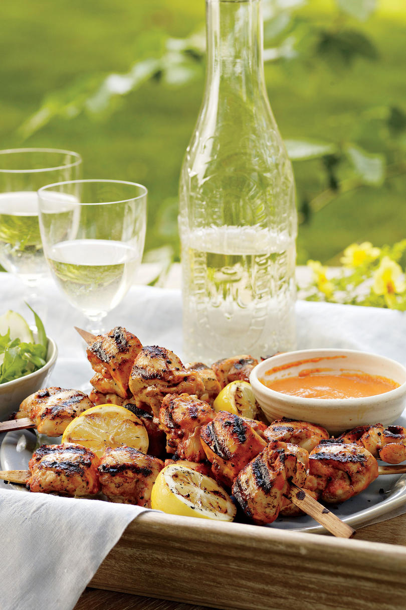 Romantic dinner recipes for two southern living buttermilk and honey chicken kabobs forumfinder Images