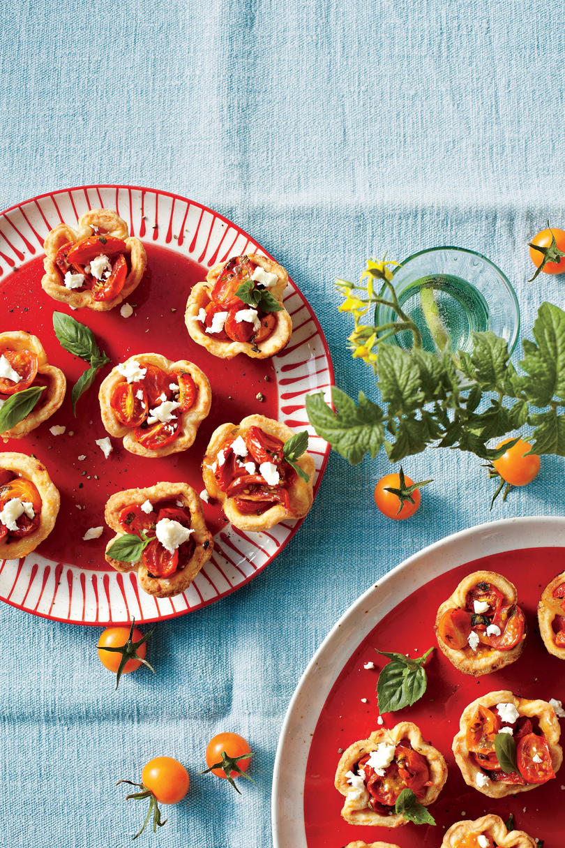 Cheese Straw Tomato Tartlets